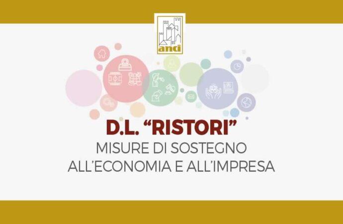 Decreto Ristori, le principali misure di aiuto nelle slides preparate da ANCI